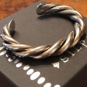 Silpada .925 Sterling Silver Twisted Cuff Bracelet